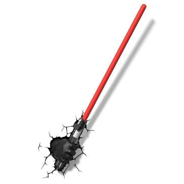 Star Wars 3D LED Leuchte Darth Vader Hand with Lightsaber