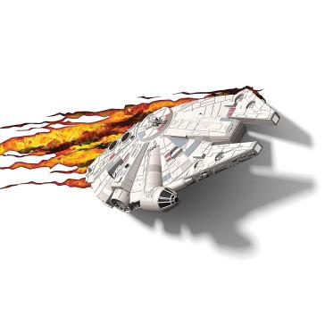 Star Wars 3D LED Leuchte Millennium Falcon