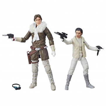 Star Wars V Leia & Han Solo Hoth Black Series Actionfiguren 15 cm Convention Exclusive