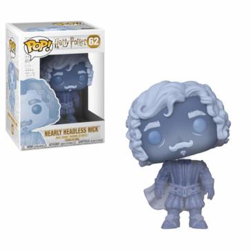 Harry Potter Nearly Headless Nick POP! Figur Blue Translucent 9 cm