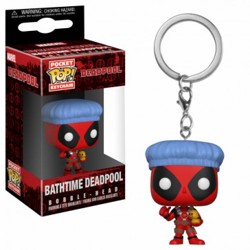 Deadpool Playtime Pocket POP! Vinyl Schlüsselanhänger Deadpool Bathtime 4 cm