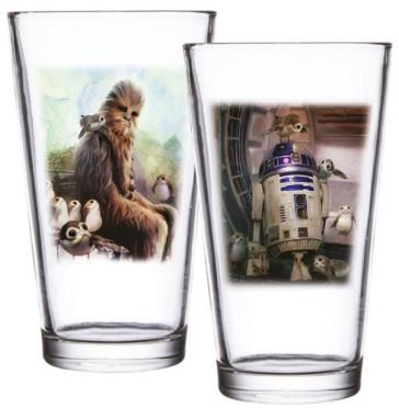 Star Wars Episode VIII Gläser 2er-Pack Chewbacca & R2-D2