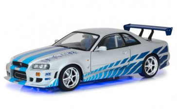 2 Fast 2 Furious 1999 Brians Nissan Skyline GT-R34 1/18 Diecast Modellauto