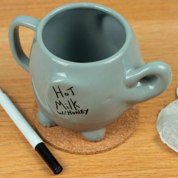 Elephant Memo Tasse mit Abwischbaren Tafelschreiber