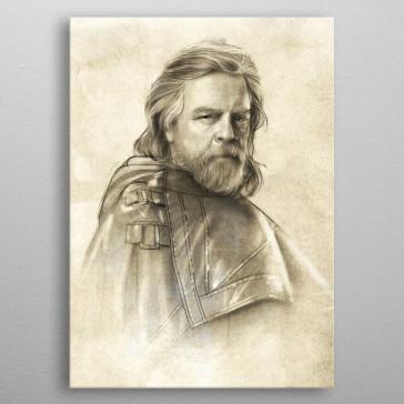 Star Wars Metall-Poster Last Jedi Sketches Luke Skywalker 10 x 14 cm