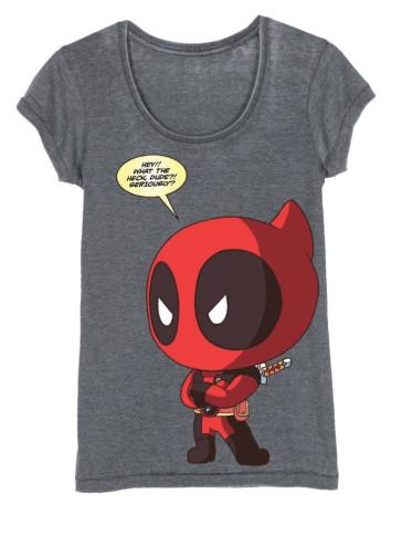 Deadpool Girlie T-Shirt Chibi Deadpool