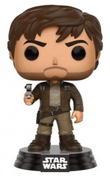 Star Wars Rogue One Cpt Cassian POP! Figur Brown Jacket 9 cm