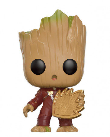 Guardians of the Galaxy 2 Young Groot POP! Figur with Shield 9 cm