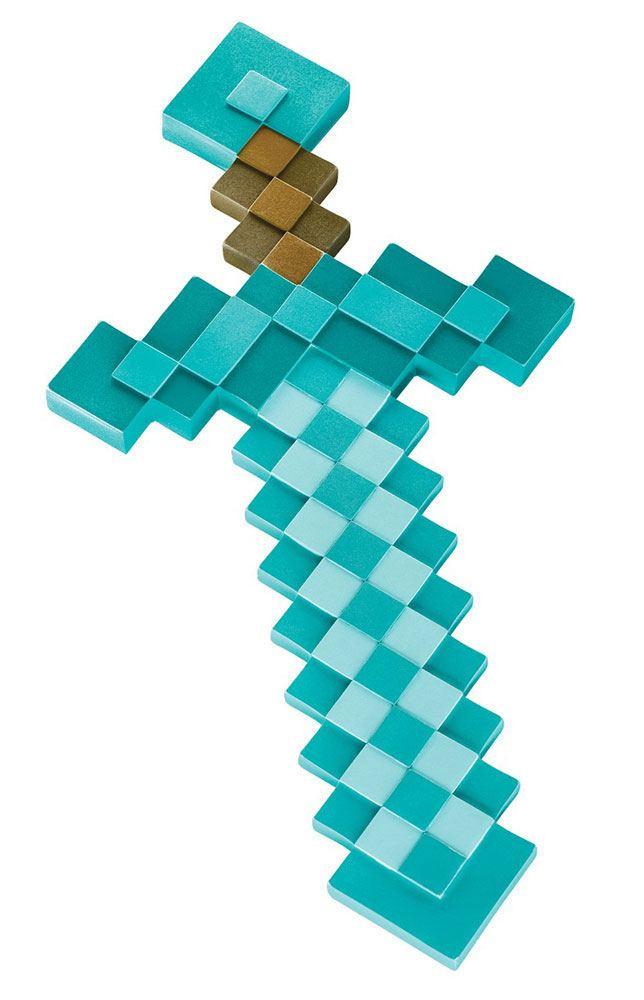 Minecraft Diamant Schwert Kunststoff Replik 51 Cm Jetzt Online