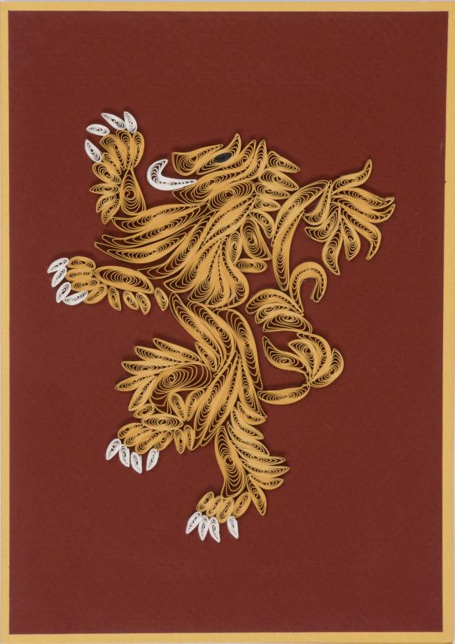 Aufsteller & Figuren Film-fanartikel Game Of Thrones Qulilling Grußkarte House Lannister