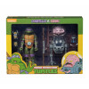 Teenage Mutant Ninja Turtles Donatello vs Krang in Bubble Walker Actionfiguren Doppelpack 18 cm