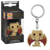 Game of Thrones Pocket POP! Vinyl Schlüsselanhänger Regular Viserion 4 cm