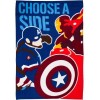 Captain America Civil War Fleecedecke Choose A Side 100 x 150 cm