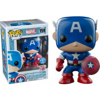 Captain America Photon Shield POP! Figur 75th Anniversary 9 cm Exclusive