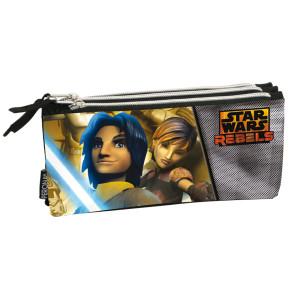 Star Wars Rebels 3fach Schlampermäppchen Ezra und Sabine