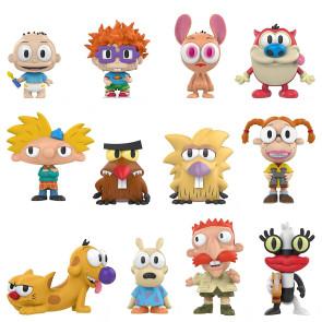 90s Nickelodeon Mystery Minis Figuren 6 cm Display