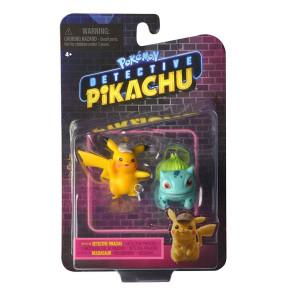 Pokémon Meisterdetektiv Pikachu - Pikachu & Bisasam Figuren 5 cm