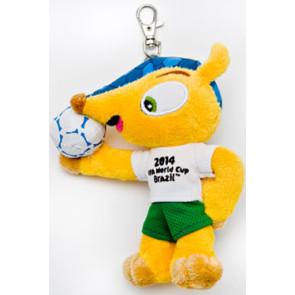 Fußball WM 2014 Fuleco Plüschfigur Schlüsselanhänger 13 cm