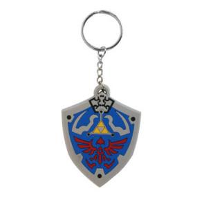 Legend of Zelda Gummi Schlüsselanhänger Hyrulian Crest 7 cm