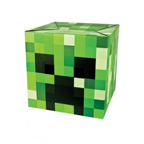 Minecraft Creeper-Pappkopf