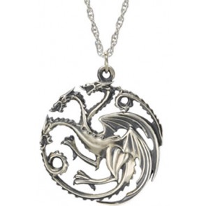 Game of Thrones Halskette & Anhänger Targaryen (Sterling Silber)