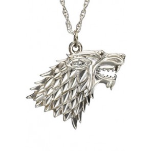 Game of Thrones Halskette & Anhänger Stark (Sterling Silber)