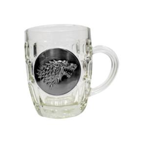 Game of Thrones Bierglas Stark Metallic Logo