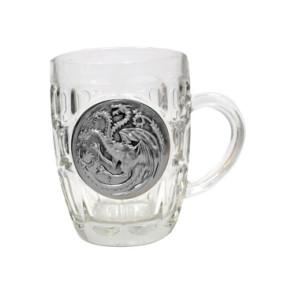 Game of Thrones Bierglas Targaryen Metallic Logo