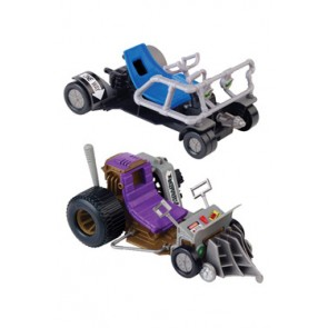 Teenage Mutant Ninja Turtles Leo & Don Fahrzeug Patrol Buggy ATVs Doppelpack