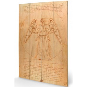 Doctor Who Holzdruck Weeping Angel 40 x 60 cm