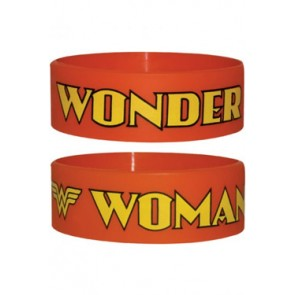 Wonder Woman Gummi Armband Red Logo