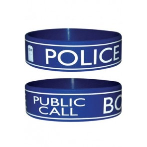 Doctor Who Gummi Armband Police Box