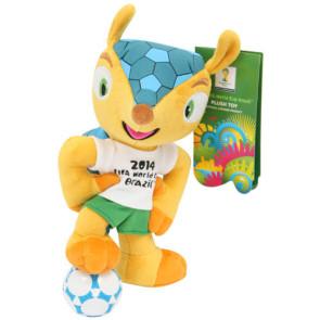 Fußball WM 2014 Fuleco Plüschfigur mit Saugnapf 13 cm