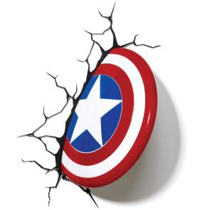 Marvel 3D LED Leuchte Captain America Shield