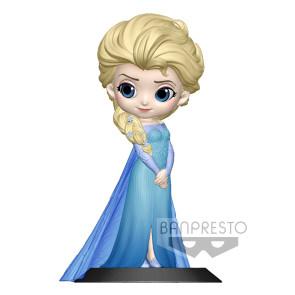Disney Q Posket Minifigur Elsa A Normal Color Version 14 cm