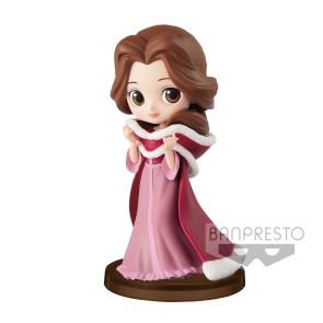 Disney Q Posket Petit Girls Festival Minifigur Belle Winter Costume 7 cm