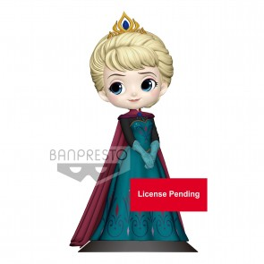 Disney Q Posket Minifigur Elsa Coronation Style A Normal Color Version 14 cm