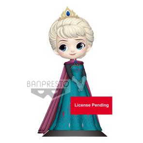 Disney Q Posket Minifigur Elsa Coronation Style B Pastel Color Version 14 cm
