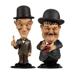 Dick und Doof Stan Laurel und Oliver Hardy Wackelkopf-Figuren Doppelpack 8 cm