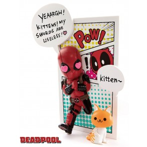 Marvel Comics Mini Egg Attack Figur Deadpool Jump Out 4th Wall PX X-Force Version 12 cm