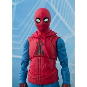 Spider-Man Homecoming S.H. Figuarts Actionfigur Spider-Man Homesuit & Option Act Wall 15 cm