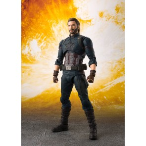 Avengers Infinity War S.H. Figuarts Actionfigur Captain America & Tamashii Effect Explosion 16 cm