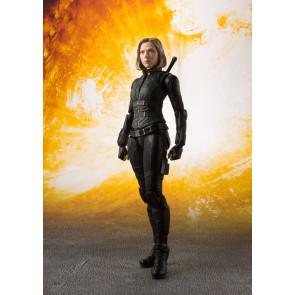 Avengers Infinity War S.H. Figuarts Actionfigur Black Widow & Tamashii Effect Explosion 15 cm