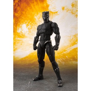 Avengers Infinity War S.H. Figuarts Actionfigur Black Panther & Tamashii Effect Rock 16 cm