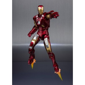 Iron Man 3 Iron Man Mark VII & Hall of Armor Set S.H. Figuarts Actionfigur 15 cm