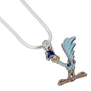 Looney Tunes Halskette & Anhänger Road Runner (versilbert)