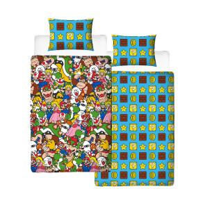 Super Mario Wende-Bettwäsche Gang 135 x 200 cm / 48 x 74 cm