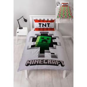 Minecraft Wende-Bettwäsche Dynamite 135 x 200 cm / 48 x 74 cm