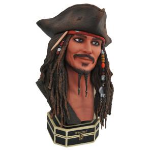 Fluch der Karibik Jack Sparrow Legends in 3D Büste 25 cm