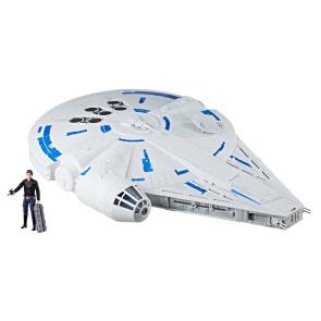 Star Wars Solo Kessel Run Millennium Falcon Force Link 2.0 Fahrzeug mit Figur